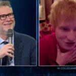 """Ed Sheeran, positivo al Covid, in collegamento con Che Tempo Che Fa: """"Mi dispiace aver deluso te e il pubblico italiano"""""""